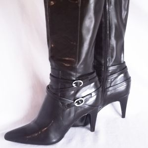 Calvin Klein Brown Knee-high pointed toe Boots
